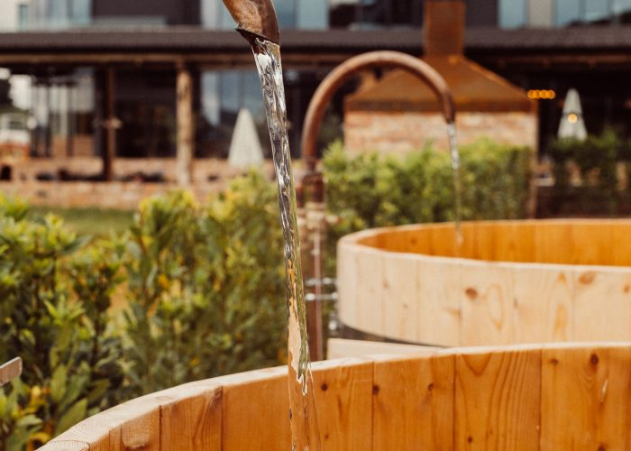 Outdoor Hot Tubs at The Glasson Lakehouse